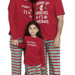 39. Karen Neuburger Drink Up Grinches Family Matching Christmas Pajama Sets