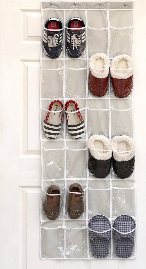 1. Simple Houseware  24 Pockets Hanging Shoe Organizer
