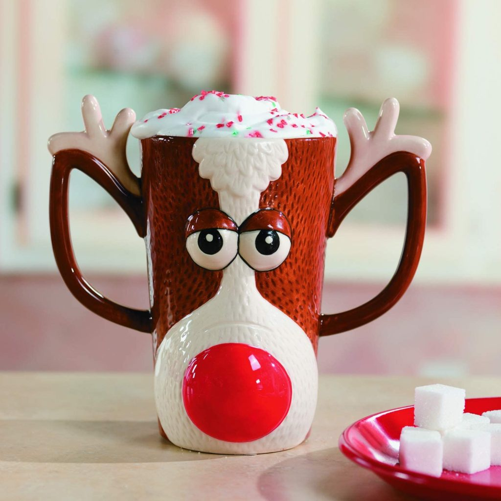 Fun Express Reindeer Face Mug-Holiday Drinkware