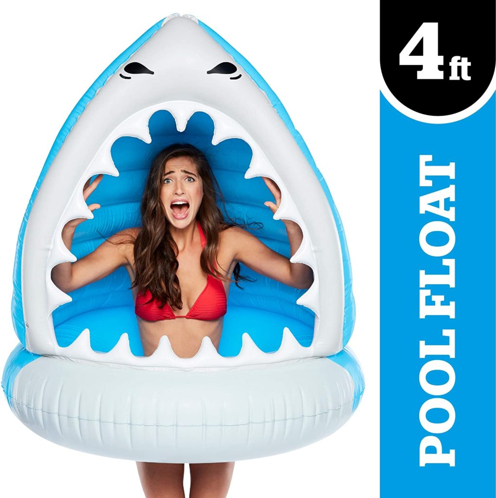 13. BigMouth Inc. Giant Man-Eating Shark Pool Float