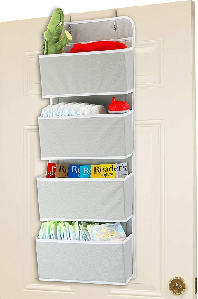 3. Simple Houseware 4 Pocket Door Mount Organizer