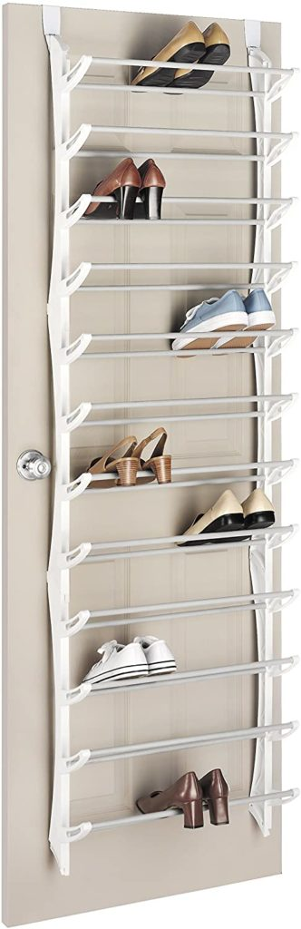 4. Whitmor Over-The-Door Shoe Rack
