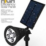 BlackLemon - Solar Lights, BlackLemon 2-in-1 Waterproof 4 LED Solar Spot light