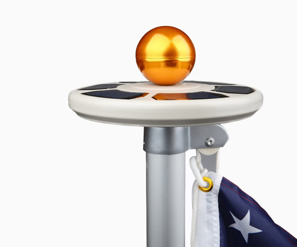 6. Sunnytech 3rd Generation Solar Power Flag Pole Flagpole Light