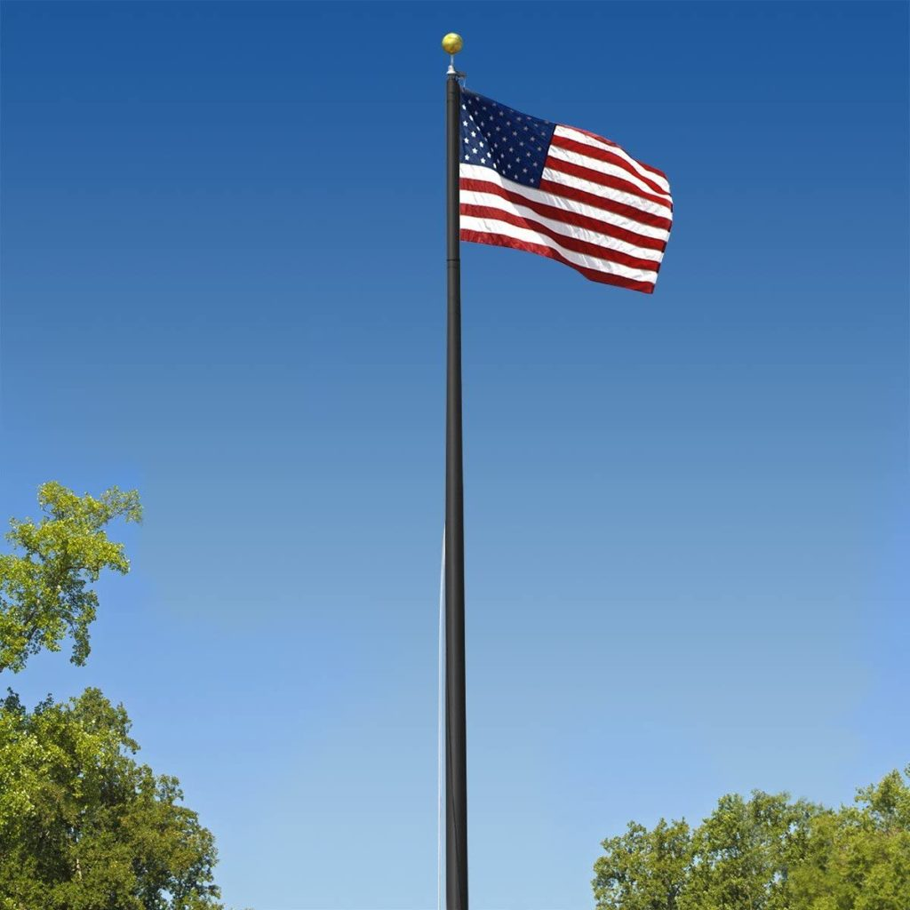6. Super Tough Commercial Grade Sectional 25 ft. Flagpole - Satin - US Made