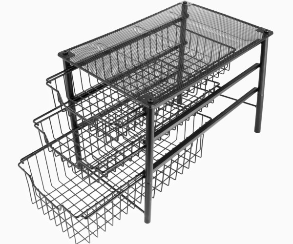 7. 3S 3-Tier Sliding Basket Organizer