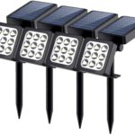 Aptoyu - Solar Lights 2-in-1 Waterproof 9 LED Solar Spot light