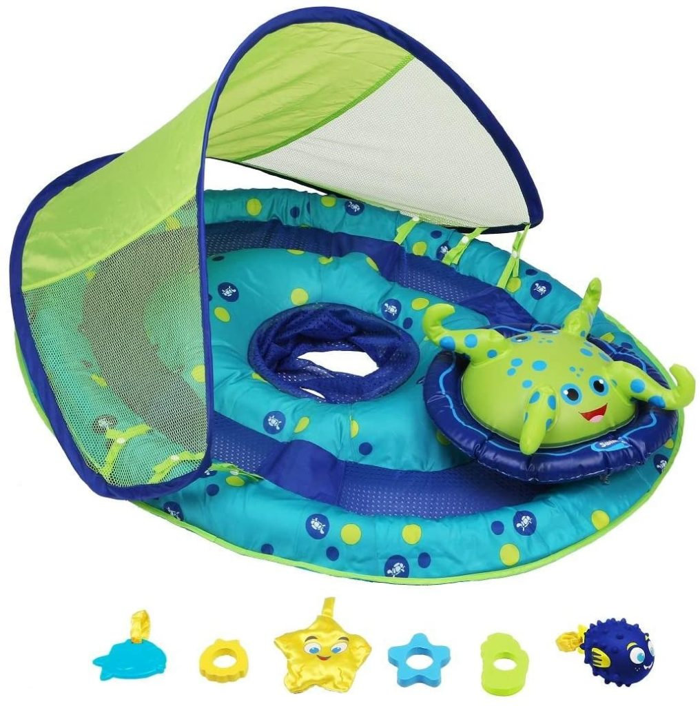 9. SwimWays Baby Spring Float Activity Center with Canopy