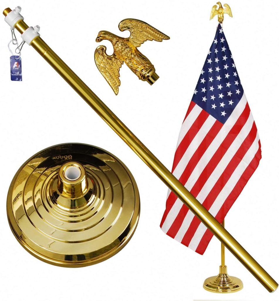 9. A-ONE 8FT Telescopic Indoor Flagpole Kit