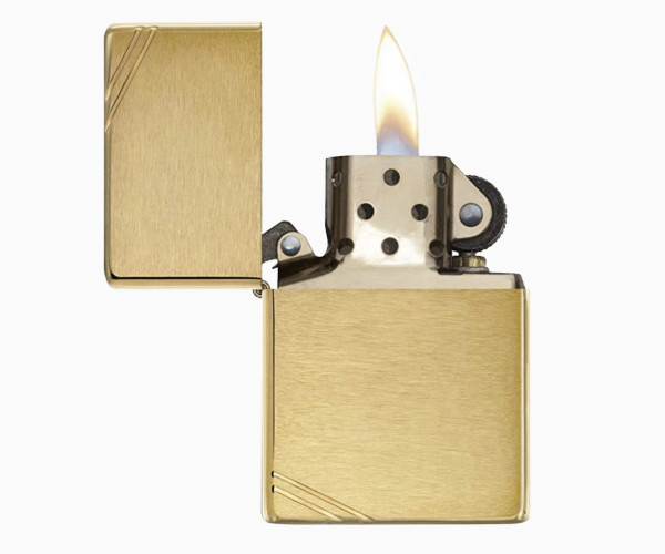 Zippo Gold retro lighter and guillotine